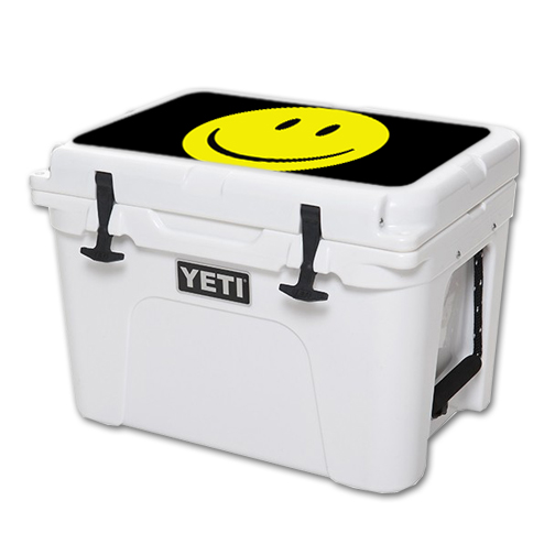 MightySkins Protective Vinyl Skin Decal for YETI Tundra 35 qt Cooler Lid wrap cover sticker skins Smiley Face
