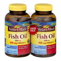 Nature Made Fish Oil Softgels, 1200 Mg, 200 Ct, 2 Pack