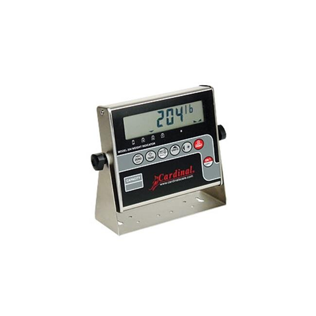 Cardinal Scale-Detecto 204 Lcd Digital Weight Indicator, Stainless Steel Enclosure, Battery Operation Standard