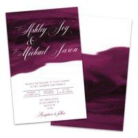 Personalized Watercolor Wedding Invitations