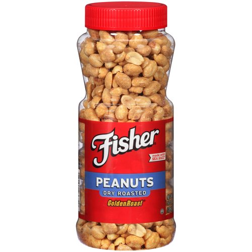 Fisher Dry Roasted Peanuts, 14 oz