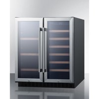 Summit Appliance 33 Bottle Dual Zone Convertible Wine Cooler