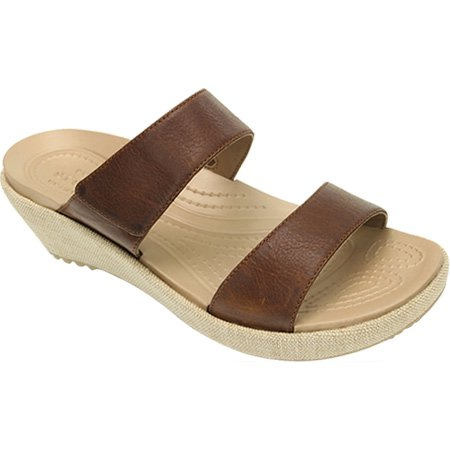 2201fb930597 crocs - women s crocs a-leigh 2-strap mini wedge sandal - Walmart.com