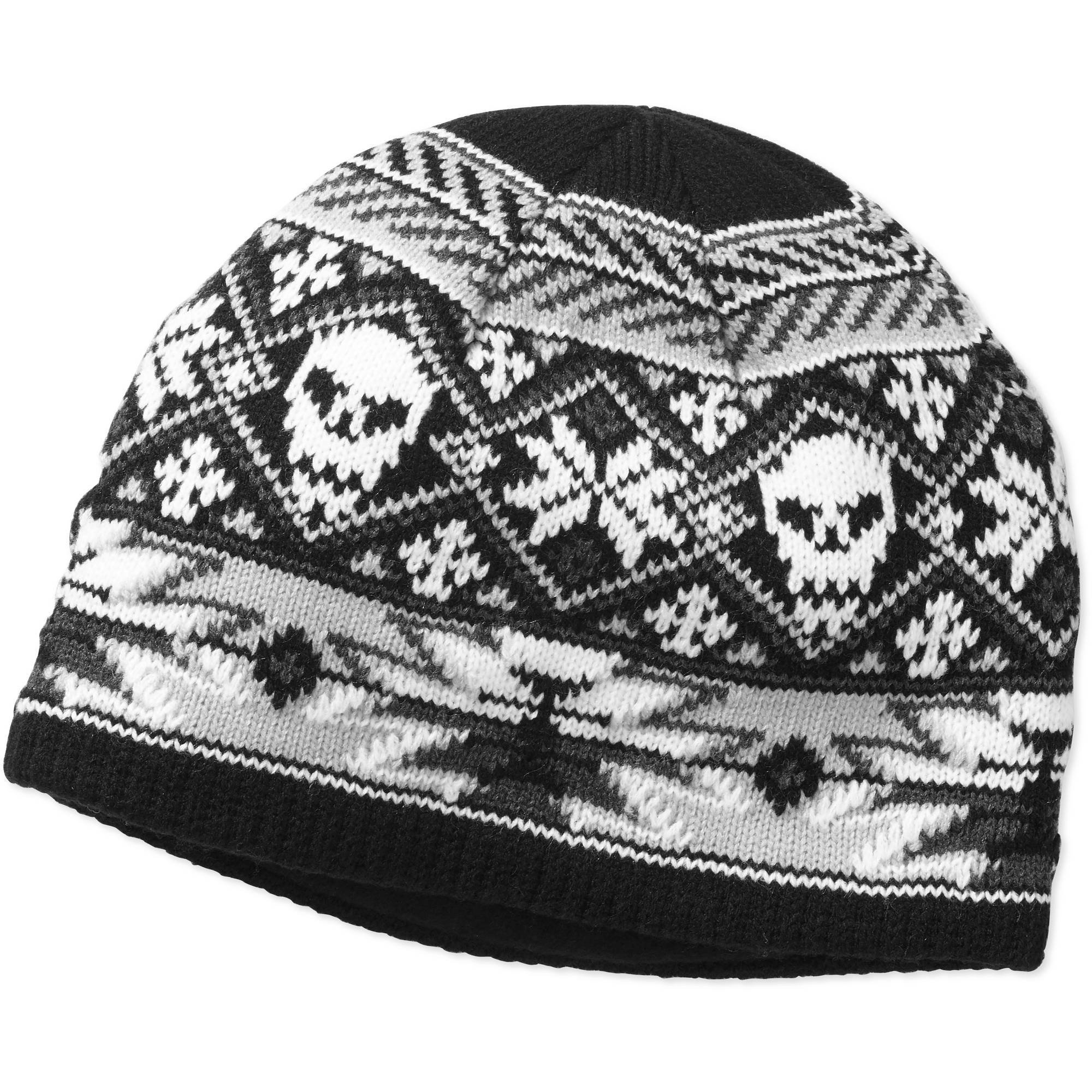 Faded Glory Men's Knit Skull Beanie Hat