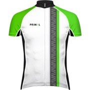 Primal Wear Frequency EVO Men's Cycling Jersey: Green/Black/White, XL