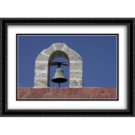 Monasterio de Santa Catalina Peru Bell 2x Matted 38x28 Large Black Ornate Framed Art Print by The Cityscape Art Print Series Black Large Country Bell