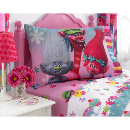 Trolls Show Me a Smile Polyester Sheet Set, 1 Each