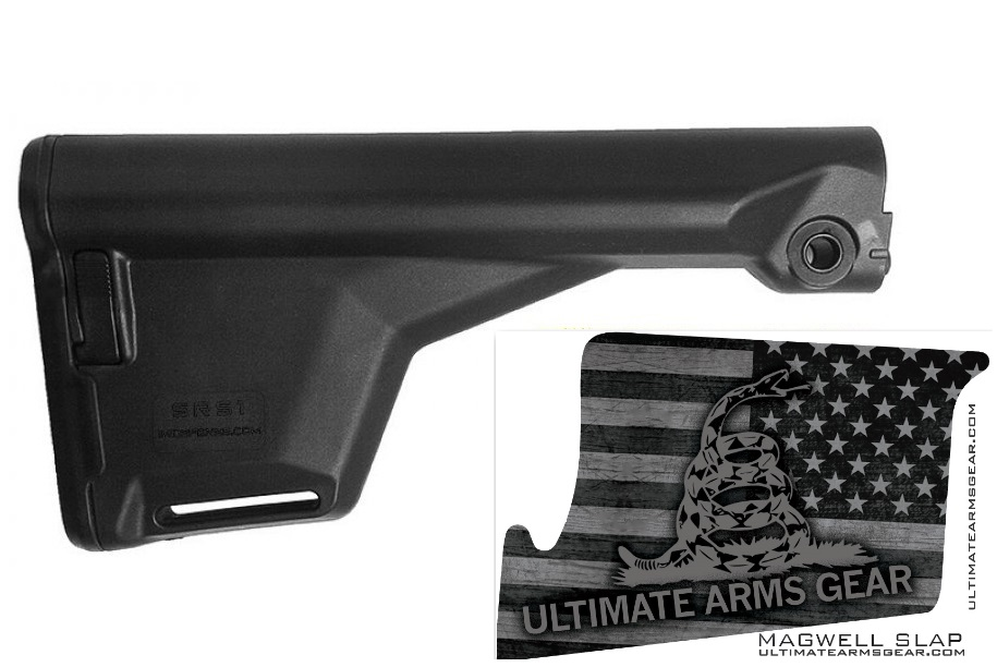 Click here to buy IMI Defense SRS1 Survival A2 Stock, Black + Ultimate Arms Gear Mag Wraps Magwell Slaps Black DTOM Don