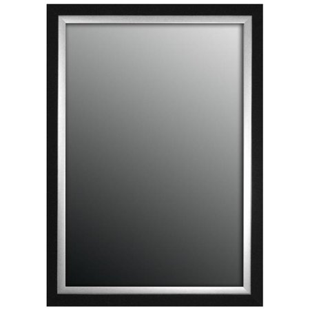 Hitchcock Butterfield 807500 Black & Brushed Nickel Silver Montevideo Natural Wall Mirror - 25.75 x 35.75 in. - image 1 of 1