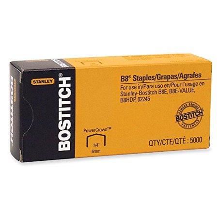 Stanley Bostitch Products   Stanley Bostitch   Full Strip B8 Staples  1 4Amp Quot  Leg Length  5000 Box   Sold As 1 Box   Staples Up To 50  More Paper     By Bostitch Office