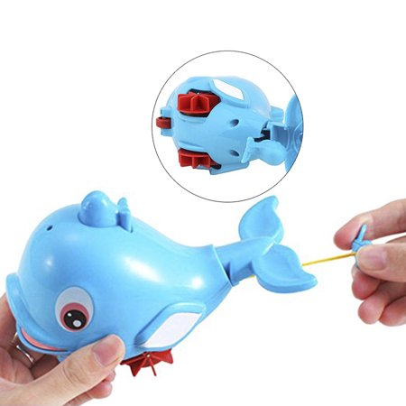 Cute Dolphin Baby Kids Bath Shower Toy Squirt Water Swimming Fish Pull Kids Toys - image 5 of 7