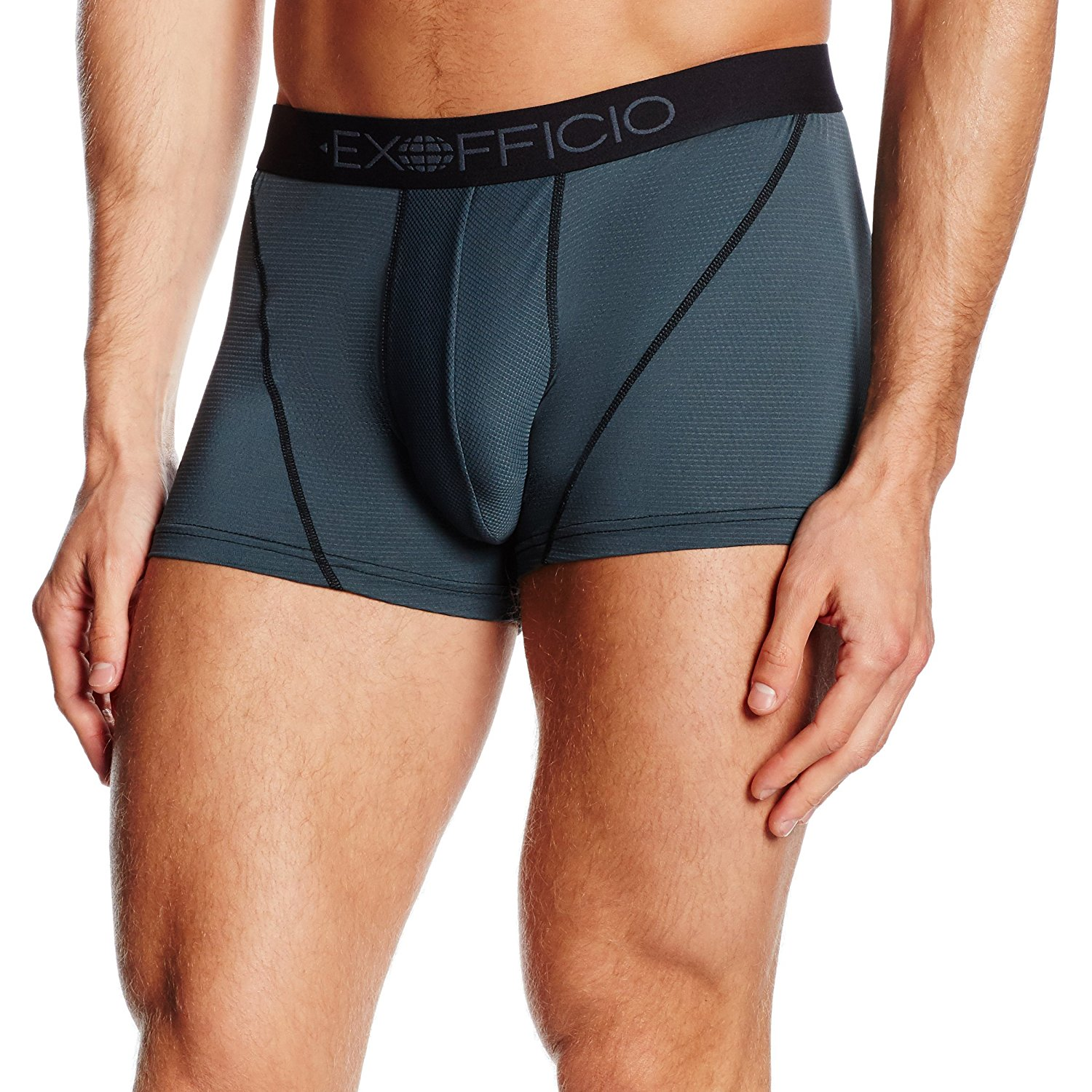 Give-N-Go Sport Mesh 3IN Boxer Brief Men's Phantom XL, Ultralight mesh is breathable and quick drying, keeping you cool by