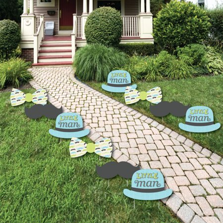 Dashing Little Man Mustache Party - Lawn Decorations - Outdoor Baby Shower or Birthday Party Yard Decorations - 10 - Mustache Decoration