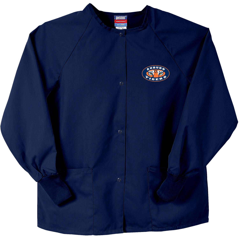 NCAA GelScrubs Navy Blue Nursing Jacket - Auburn University Tigers - Tiger Eyes