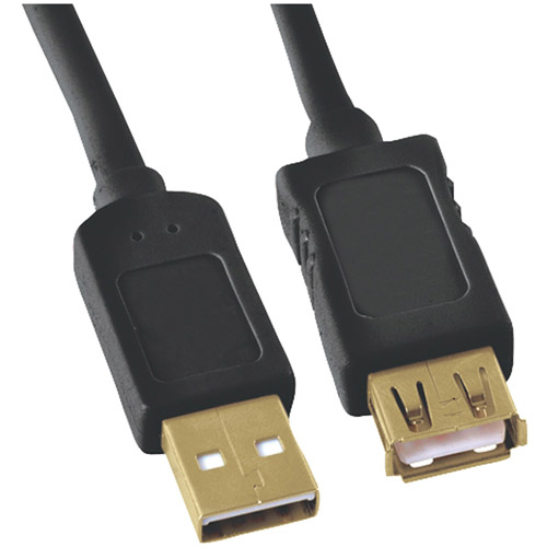 GE HO97837 A-Male to A-Female USB 2.0 Cable, 10'