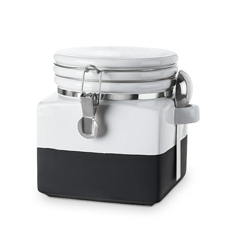 Pantry: Chalk Dipped Extra Small Ceramic Canister
