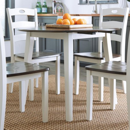 Signature Design by Ashley Woodanville Round Drop Leaf Dining Table ()