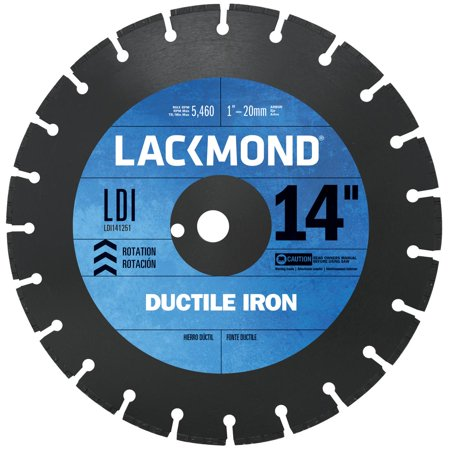 Lackmond 14-Inch Segmented Diamond Blade for Cutting Ductile Iron Pipe