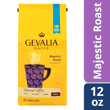 Gevalia Bold Majestic Roast Ground Coffee, Caffeinated, 12 oz (Gevalia Morning Roast)