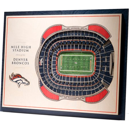 Denver Broncos 17'' x 13'' 5-Layer StadiumViews 3D Wall Art - No