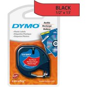 "Dymo 91333M 1/2"" Red Letra Tag Plastic Labels"