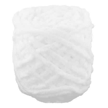 Polyester DIY Craft Scarf Sweater Tatting Knitting Yarn Cord White - Yarn Crafts