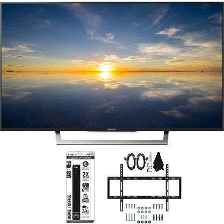 Sony XBR-43X800D – 43″ Class 4K HDR Ultra HD TV w/ Slim Wall Mount Bundle includes TV, Slim Flat Wall Mount Ultimate Kit and 6 Outlet Power Strip with Dual USB Ports