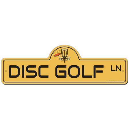 Disc Golf Street Sign | Indoor/Outdoor | Funny Home Decor for Garages, Living Rooms, Bedroom, Offices | SignMission personalized gift (Funny Golf Sign)