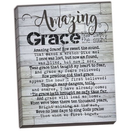 Gango Home Decor Country-Rustic Amazing Grace by Cindy Jacobs (Ready to Hang); One 12x16in Hand-Stretched Canvas](Grease Decor)