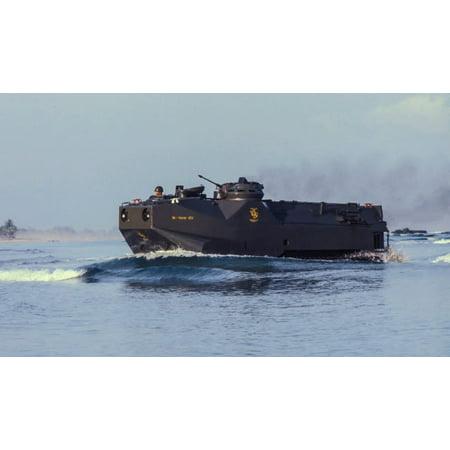 A South Korean Marine amphibious landing vehicle off Tok Sok Ri beach Poster Print by Michael WoodStocktrek