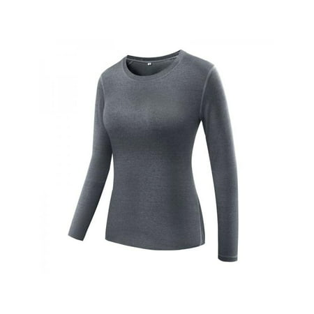 Lavaport Women Compression Tops Long Sleeve Yoga Tight Workout Tee (Long Sleeve Tights)