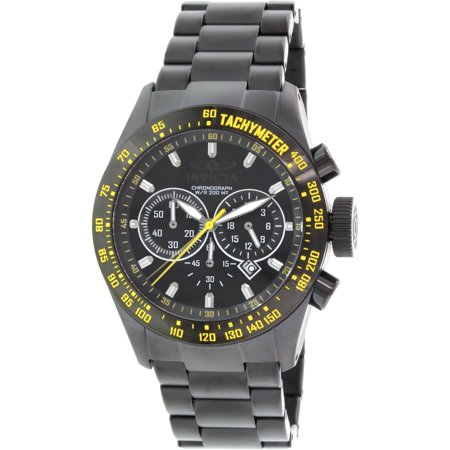 Men's Speedway 19297 Black Stainless-Steel Swiss Quartz Watch