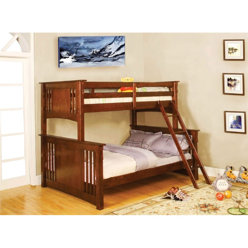 Bowery Hill Twin over Full Bunk Bed in Dark Oak