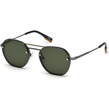 19578661f8e3 Ermenegildo Zegna - Sunglasses Ermenegildo Zegna EZ 0105 08N shiny gumetal  / green - Walmart.com