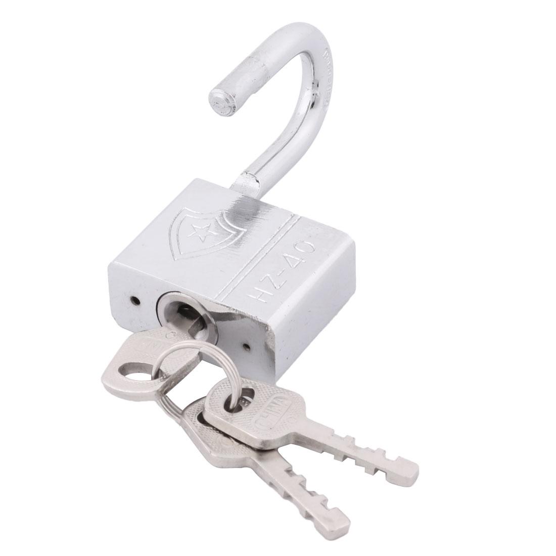 Door Metal Rectangle Security Shackle Padlock Hardware Silver Tone 40mm Width - image 2 of 3