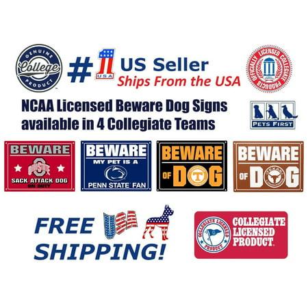Pets First Collegiate Ohio State Buckeyes Beware of Dog Door Sign, 10 x 14