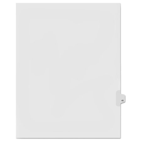 - 90000 Series Legal Exhibit Index Dividers, Side Tab, Printed
