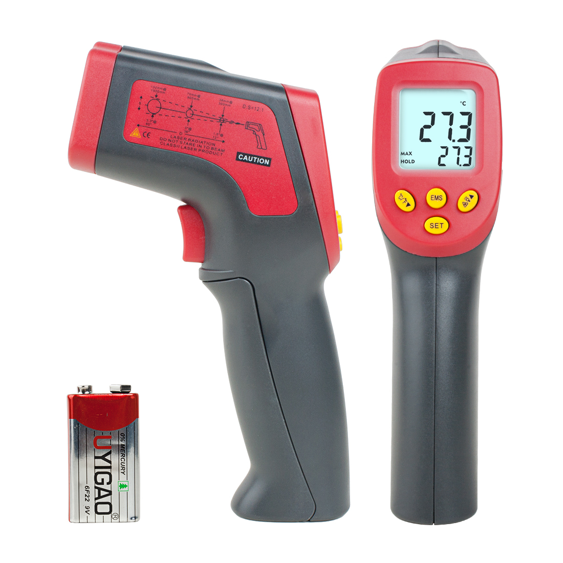 UYIGAO Authorized Temperature Gun Non-contact Infrared IR Digital Thermometer
