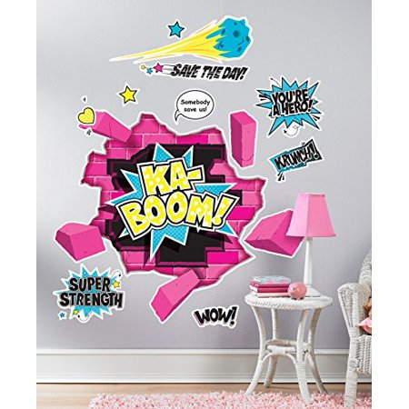Superhero Girl Room Decor - Giant Wall Decals