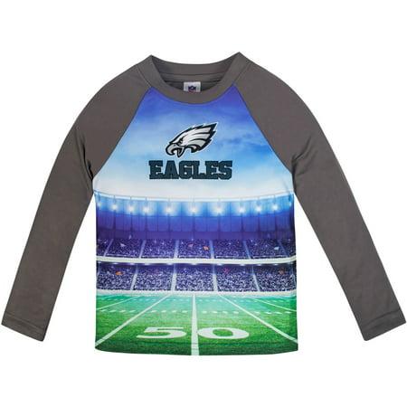 Philadelphia Eagles Baby Clothes (Toddler Gerber Gray Philadelphia Eagles Long Sleeve Stadium)