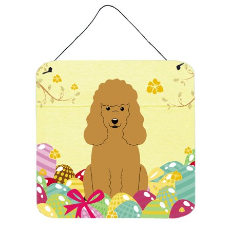 - Easter Eggs Poodle Tan Wall or Door Hanging Prints BB6069DS66