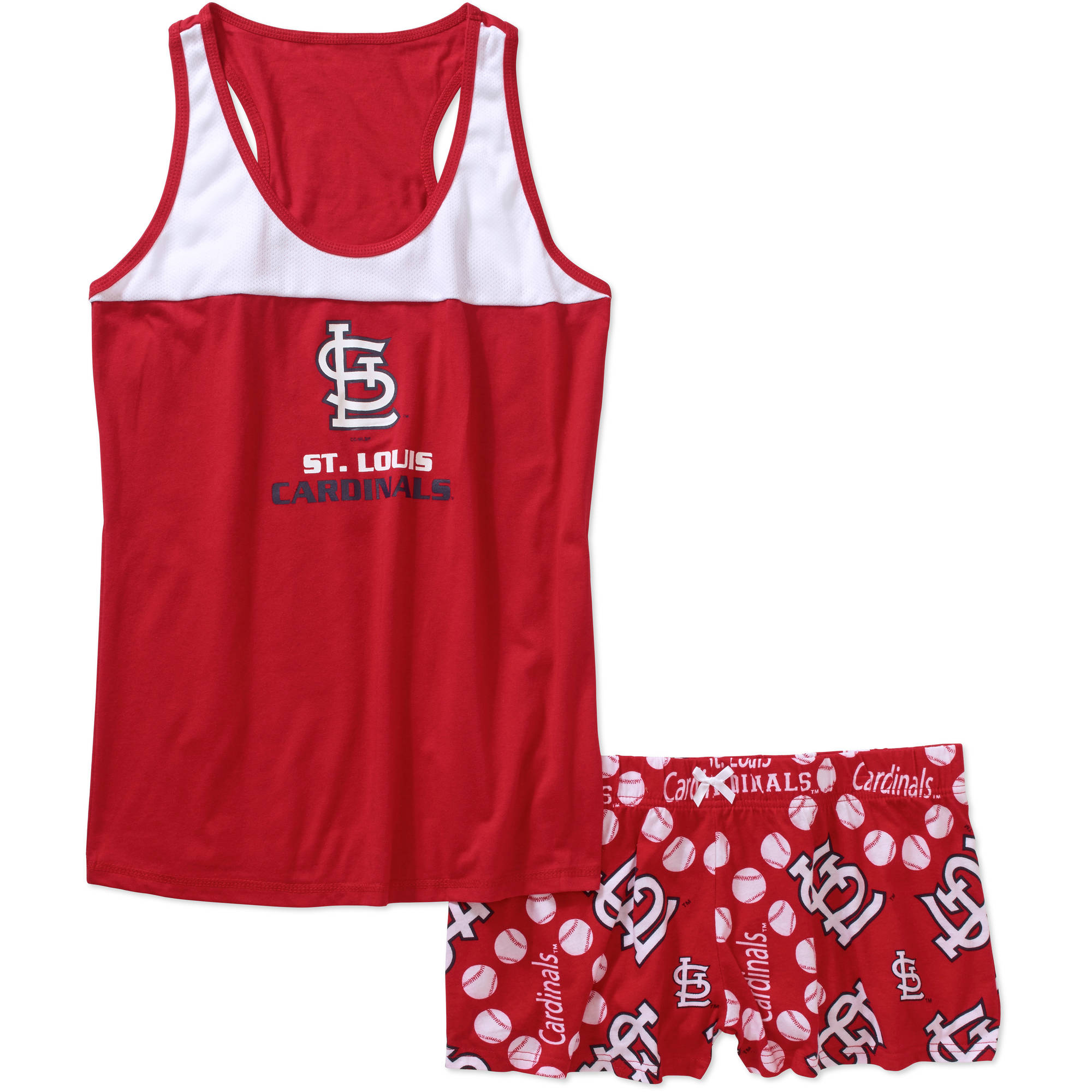 MLB Women's St. Louis Cardinals Tank Top and Shorts Set