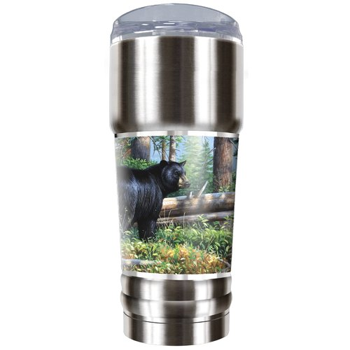 Great American Products Black Bear Traditions 32 oz. Stainless Steel Travel Tumbler