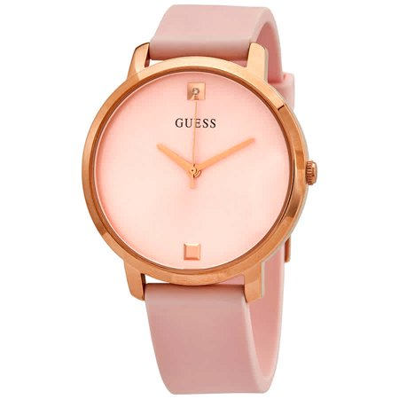 Guess Nova Quartz Rose Gold Dial Ladies Watch W1210L3 Guess Logo Dial Watch