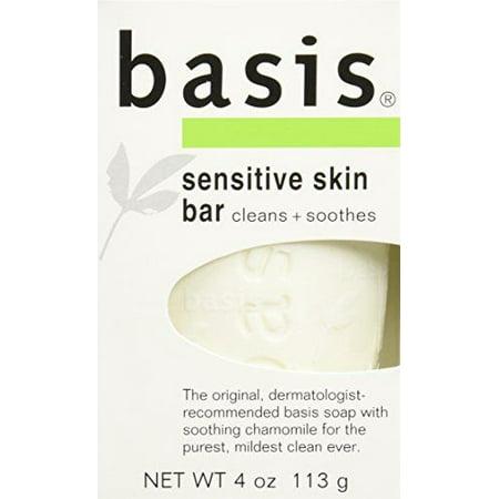 6 Pack Basis Sensitive Skin Bar Soap 4 oz (113 g)