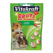 Vitakraft Hamster Drops Treat with Strawberry 5.3 oz.