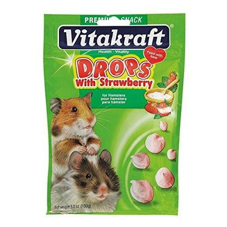 Vitakraft Hamster Drops Treat with Strawberry 5.3
