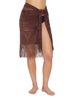 Bleu Rod Beattie Womens On The Fringe Sarong Cover-Up Style-RBOF20863