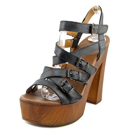 Musse   Cloud Maisha Women  Open Toe Leather  Platform Sandal