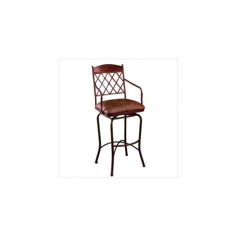 """Pastel Furniture Napa Ridge 26"""" Swivel Counter Stool in Coffee"""